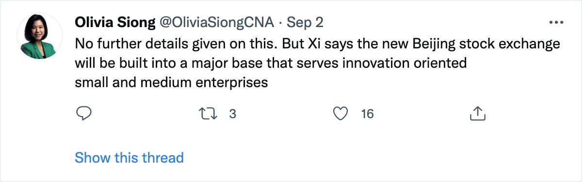 China Beijing Stock Exchange Innovation SMEs
