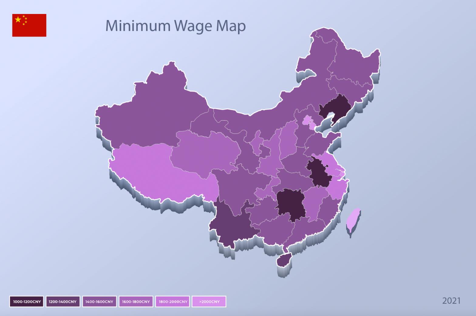 China minimum wage